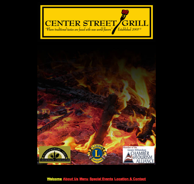 Center Street Grill Homepage - Click the picture to see the website for yourself